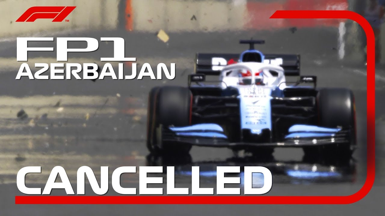 George Russell's Drain Cover Incident Ends FP1 | 2019 Azerbaijan Grand Prix – 長さ: 1:24。