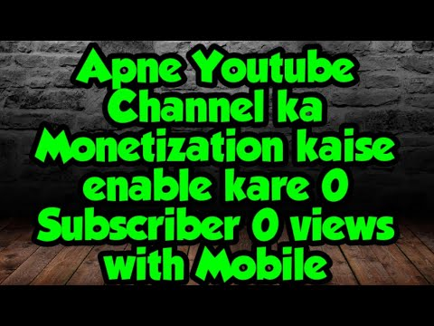 How to Enable Apply Youtube Monetization Without 1000 Subcriber and 4000 hrs – 長さ: 7:06。