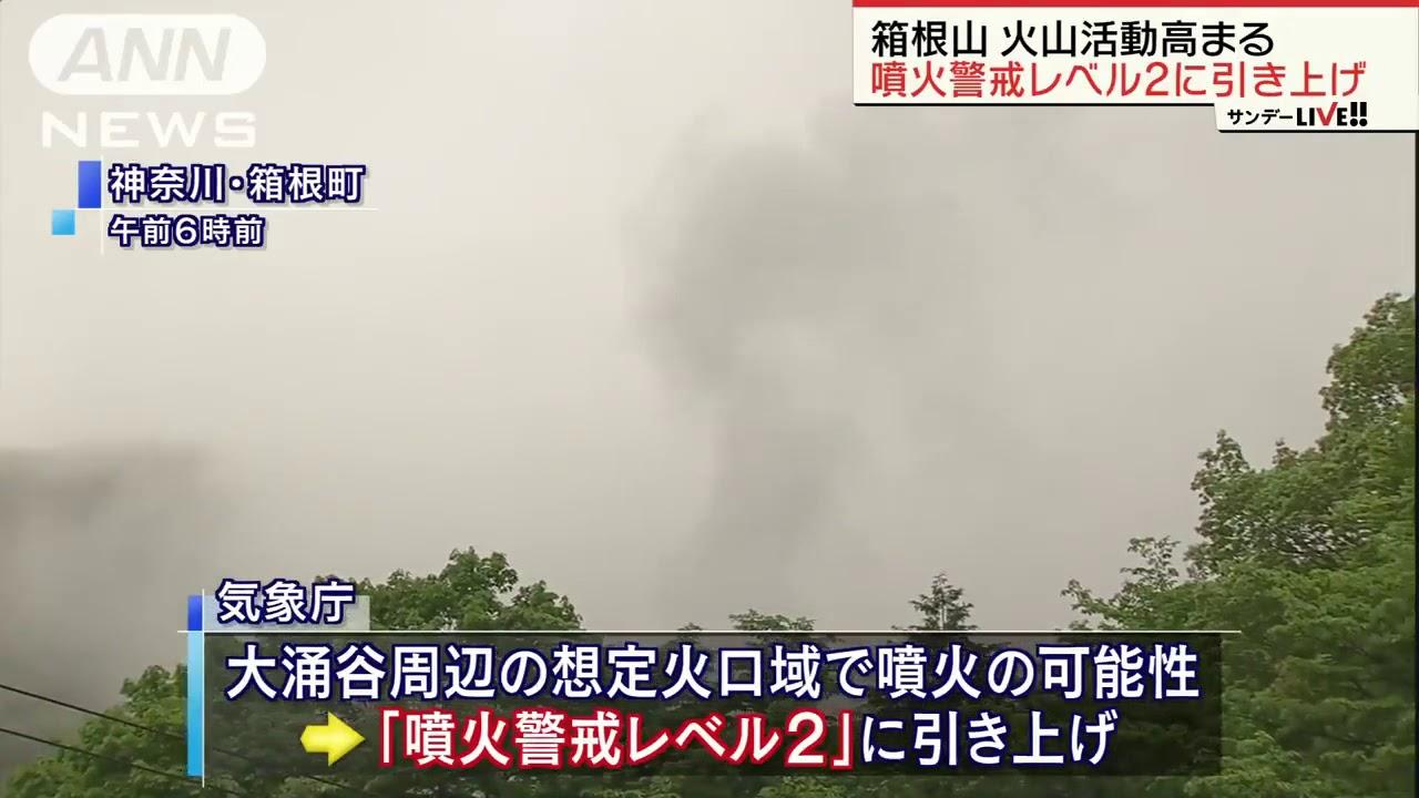 箱根山の噴火警戒レベル2に引き上げ 気象庁(19/05/19) – 長さ: 1:23。
