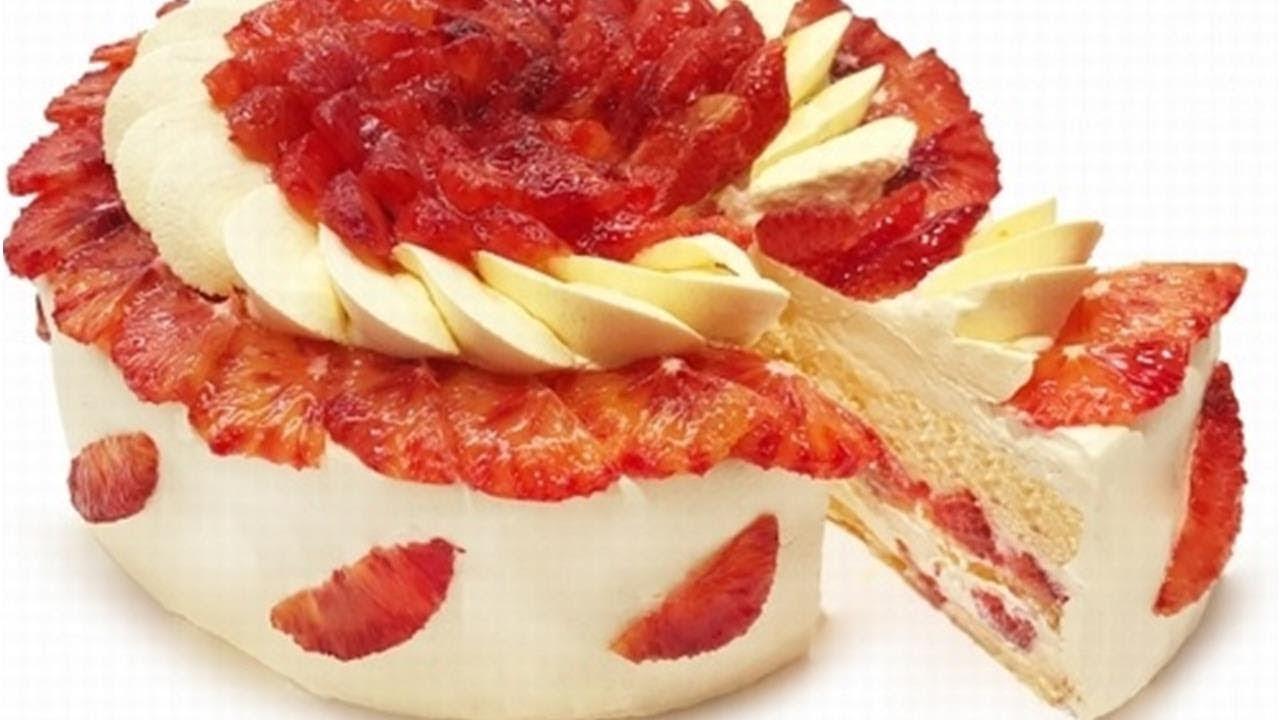 カフェコムサが限定「ブラッドオレンジのショートケーキ」 – 長さ: 1:21。