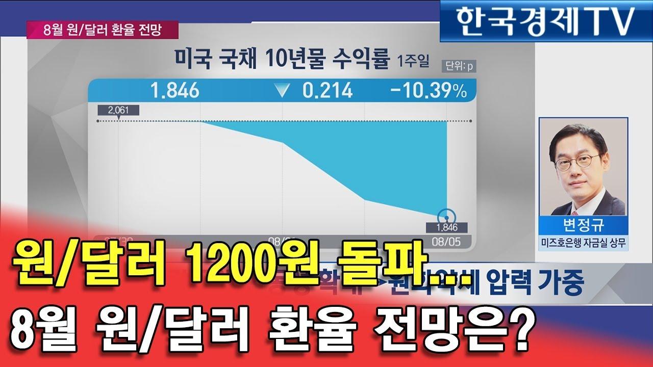 (영문Ver.)[증시라인] 원/달러 1200원 돌파… 8월 원/달러 환율 전망은? – 長さ: 6:13。