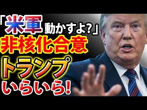 【衝撃】トランプ大統領「非核化しないなら米軍動かすよ?」 – 長さ: 2:45。