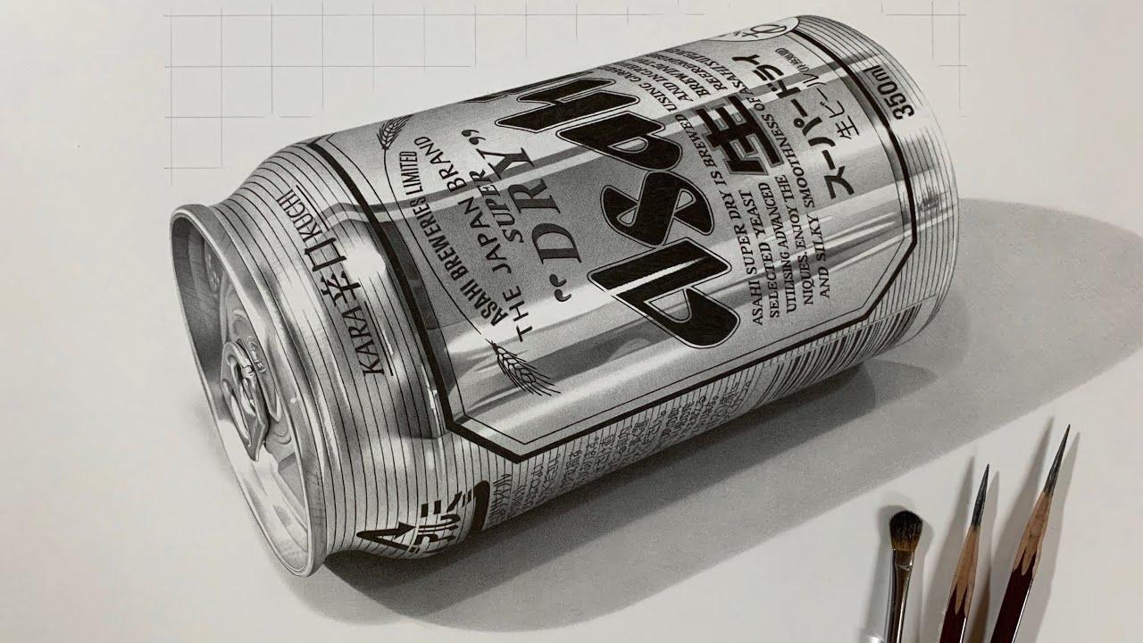 【神技】「すごいアルミ感だ」鉛筆で超絶リアリティのアルミ缶を描いてしまう動画がスゴすぎると話題に!