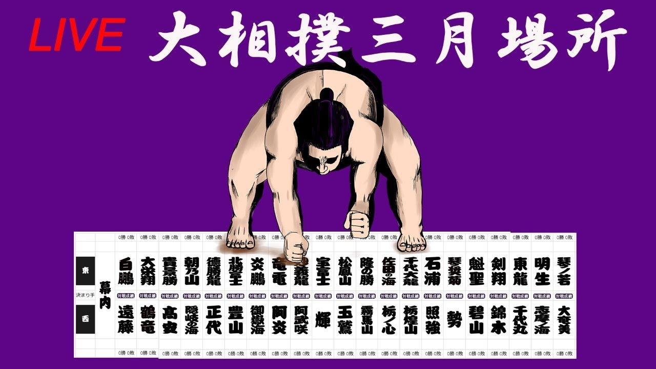 【無観客LIVE】大相撲  三月場所 ー初日ー – 長さ: 2:35:24。