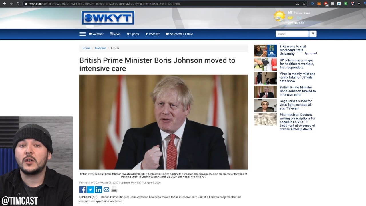 UK Prime Minister Boris Johnson Admitted To Intensive Care Unit Over Coronavirus – 長さ: 11:02。