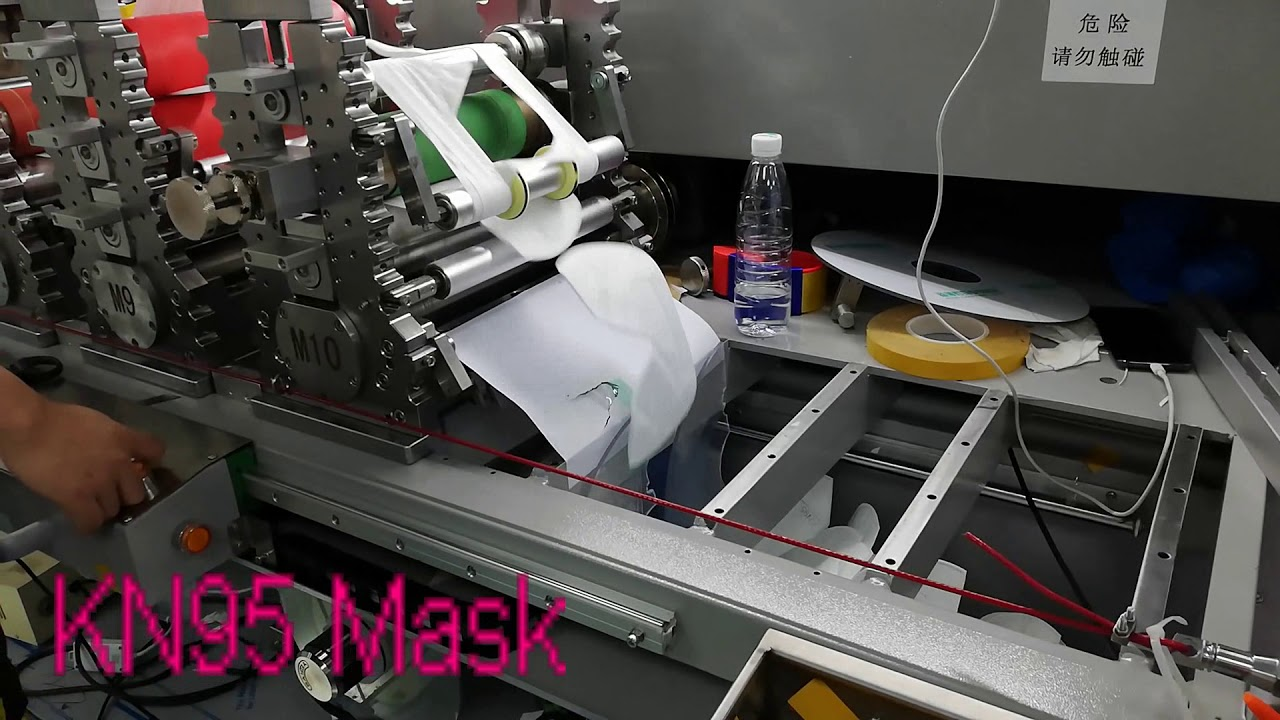 KN95 Mask , Automatic N95 Mask Machine Production Line – 長さ: 1:10。